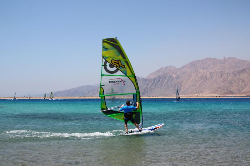 Warm turqouise flat water is perfect for practising skills or learning a new sport.