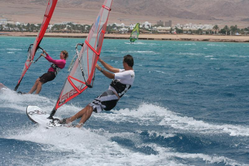 The windsurfing lagoon and main sandy beach is less than a 10 minute walk from the apartment.