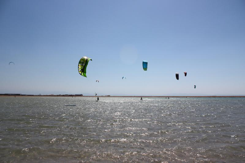 The kite lagoon is shallow and flat so perfect for practising skills or learning a new sport.