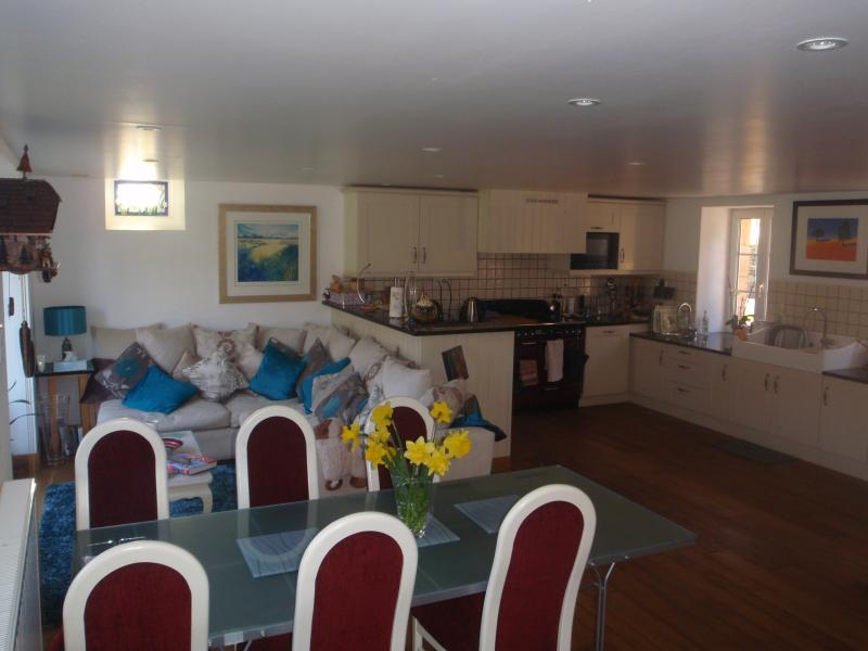 The very spacious kitchen and dining area