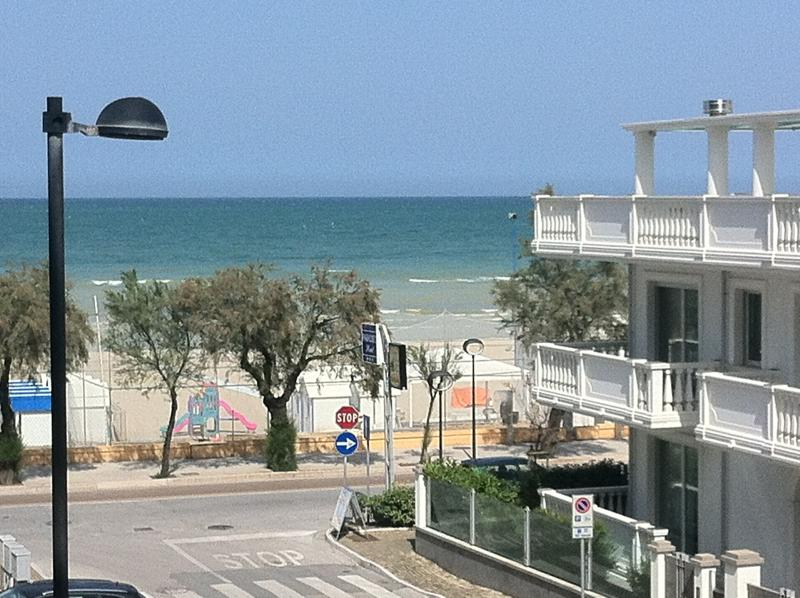 View from balcony, overlooking Via Abruzzi, Dante Alighieri promenade and the beach of ...
