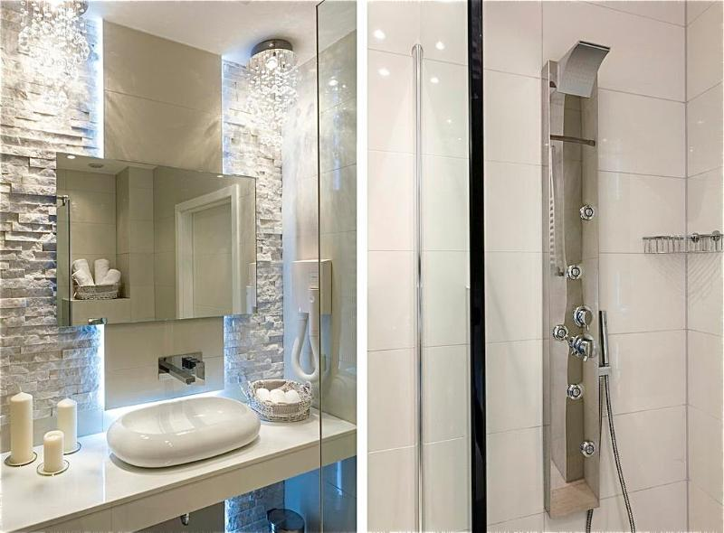 Luxurious shower with massage jets