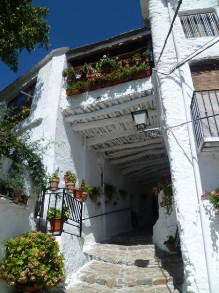 white washed village house