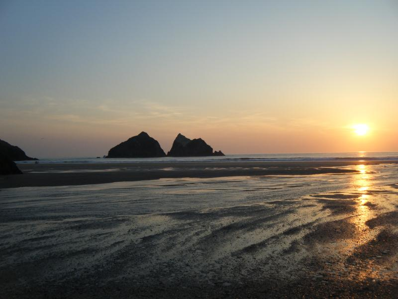 Sunset at the Beach - Voted Best beach in the UK (National Trust)