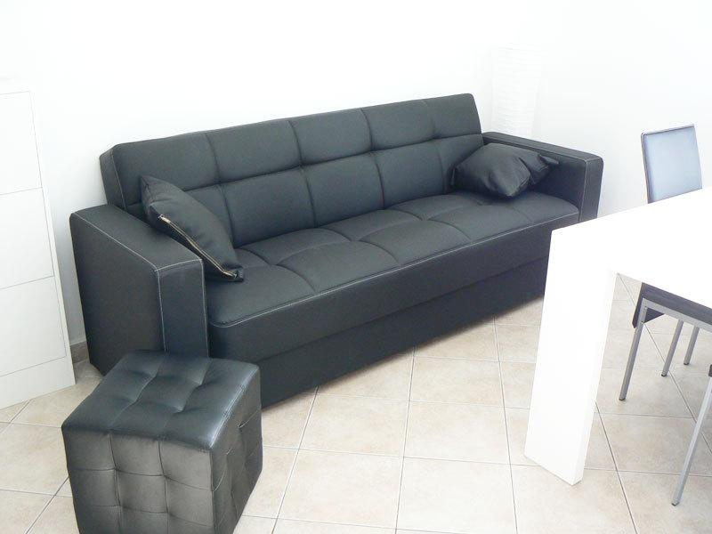 comfortable sofa in living room