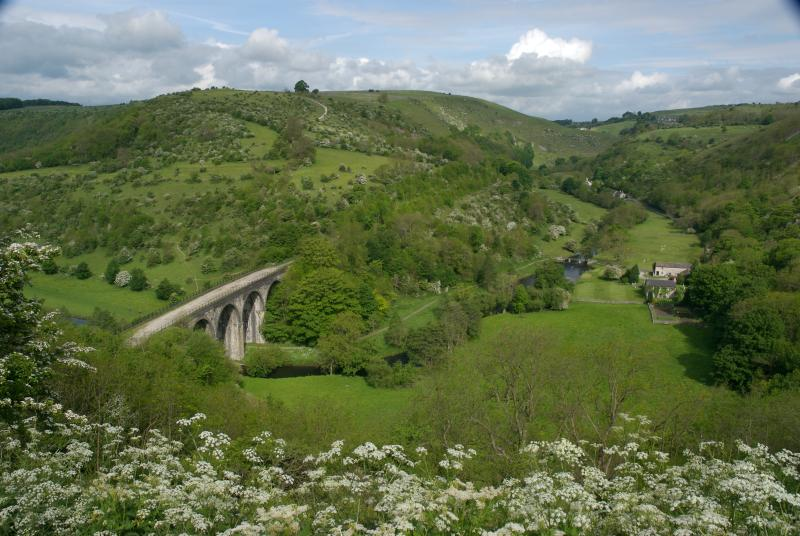 Walk or cycle across a spectacular viaduct and through tunnels on the Monsal Trail.