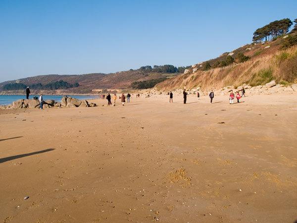 Goas lagorn beach in February