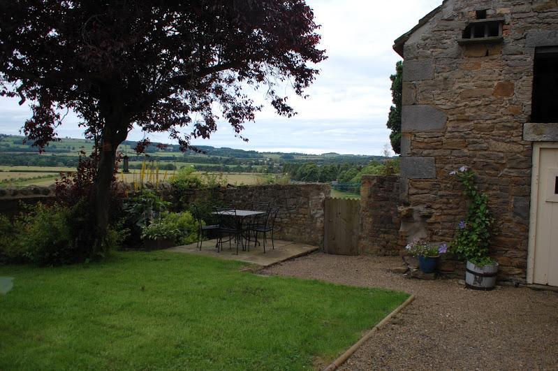 cottage garden & view
