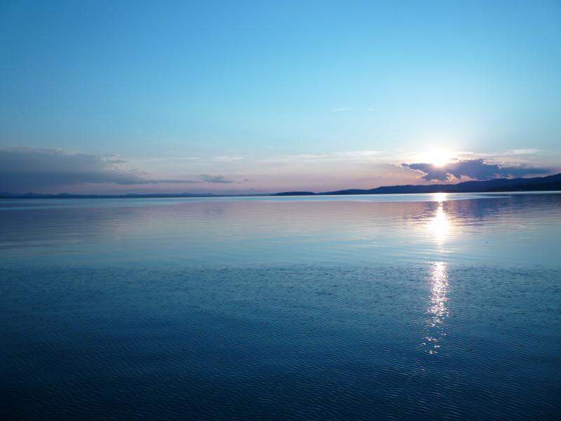 sunset at Trasimeno lake