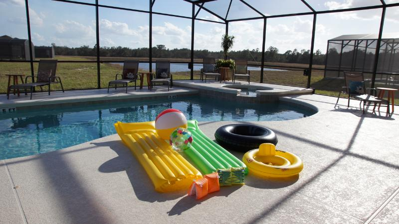 Pool accessories provide. also got Safety fence protect from kid in to the pool.