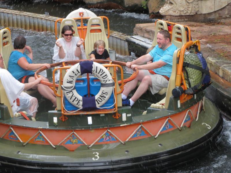 Kali River Rapids - Disney's Animal Kingdom - be prepared for a soaking