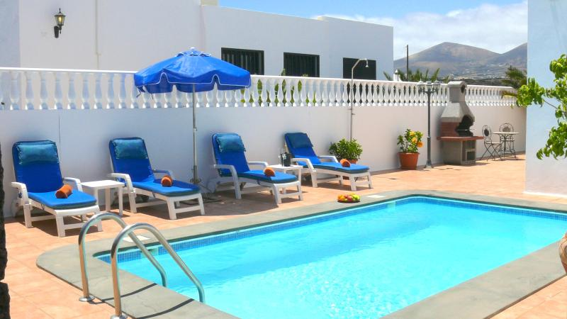 An amazing pool area, Totally private and relaxing. BBQ just behind. A Pool Safety Gate is available