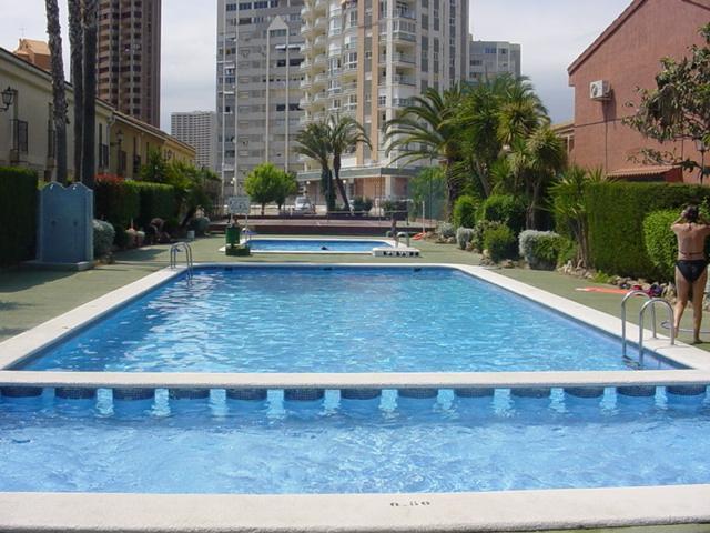 One of the three community swimmingpools