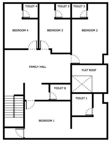 Upper Floor Layout Plan