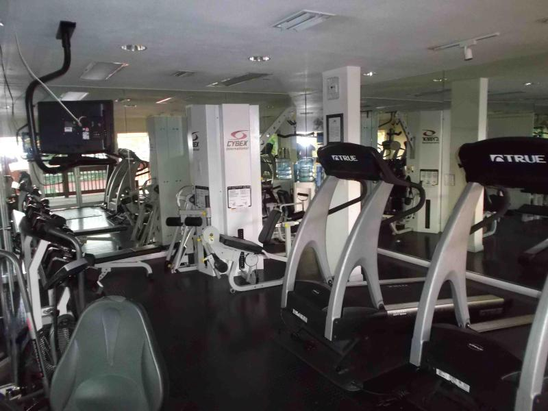 One of the exercise rooms on the resort