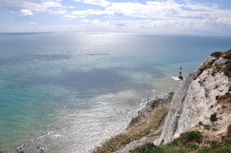 A walk along the cliffs at Beachy Head reveals some stunning views of the Sussex coastline.