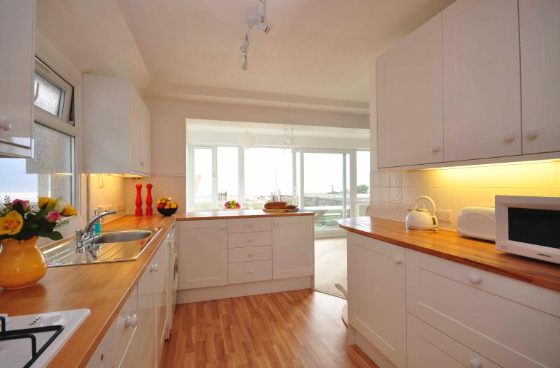 A warm welcome awaits you as you enter the property into our newly fitted, open plan kitchen.