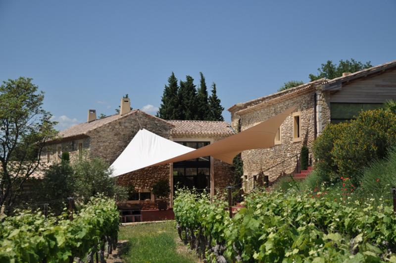 At the gateway to Provence, nestled within the Côtes du Rhone vineyards.
