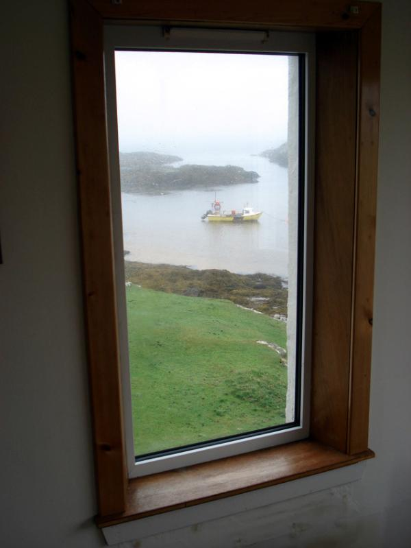 View over the sea from the East window of the sun lounge