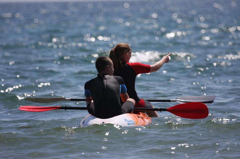 Kayaking in Bigbury Bay