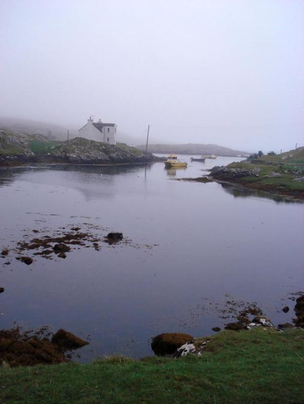 The bay between the cottages