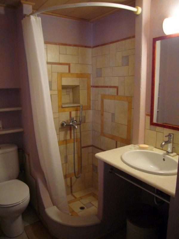 A playfully tiled bathroom