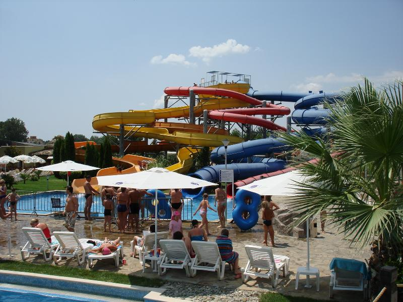 Aquapark, only 10 mins walk from apartment.