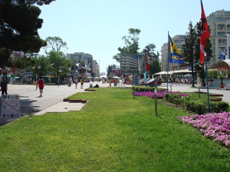Sunny beach, main street. 5 mins away