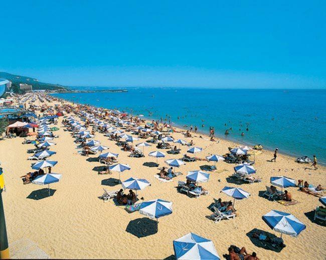 Sunny Beach resort, 5 mins walk from apartment.