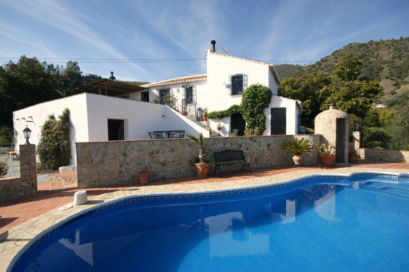 View of the finca and pool