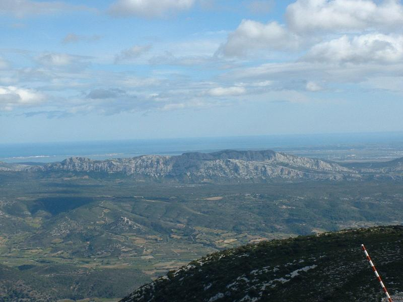 The Mediterranean from Mont Tauch