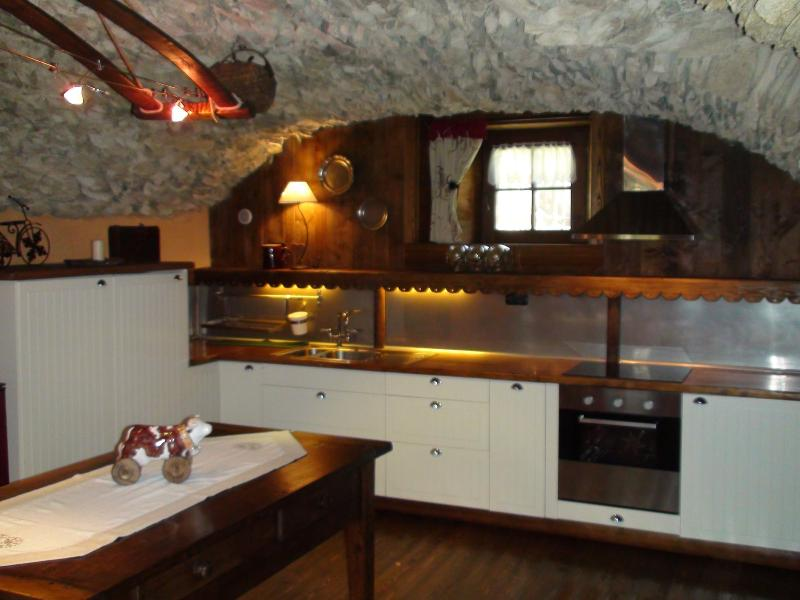 Kitchen with ceramic hob