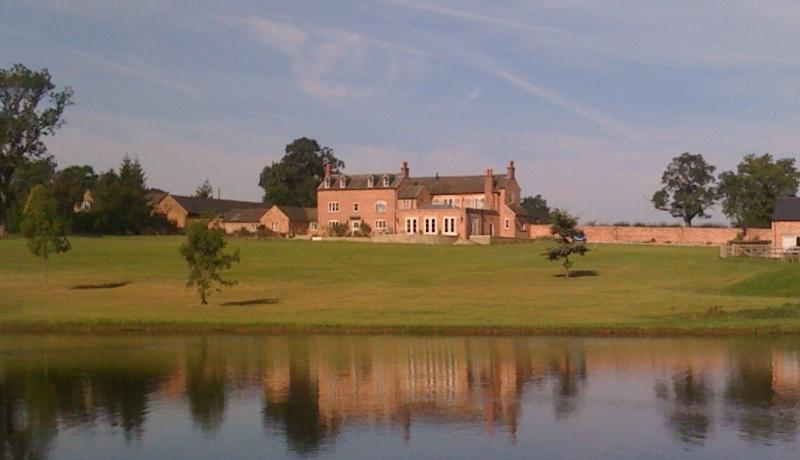 Hazelhurst Farm from across the lake.