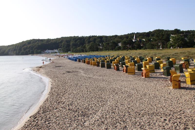 Binzer Strand in der frühen Morgenstunde
