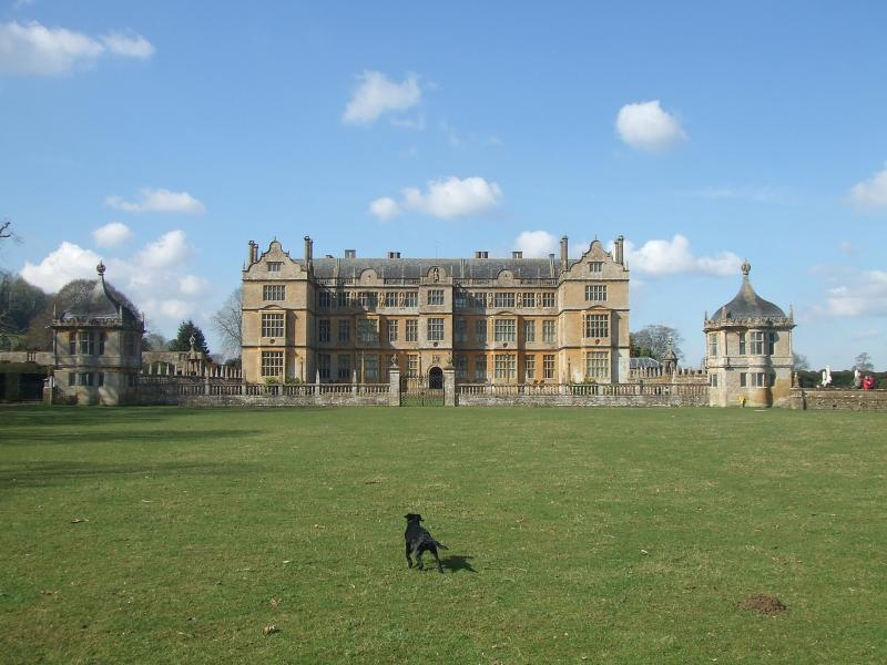 From Sunset Stop you can walk to Montacute house across glorious countryside.