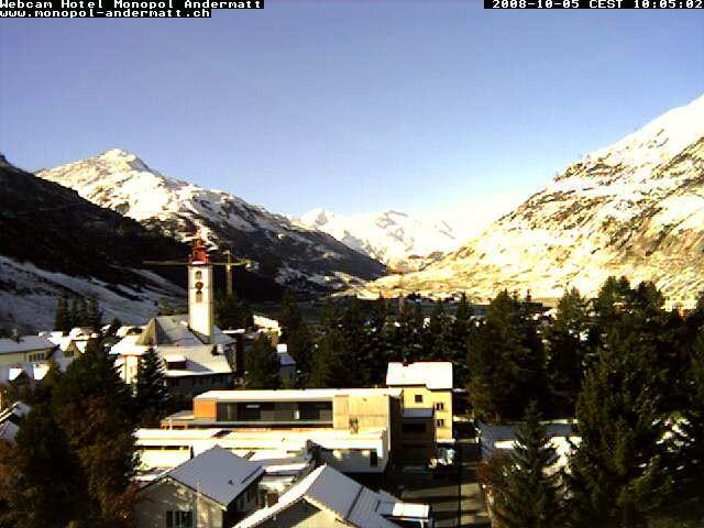 (Apartment in the flat white/wooden house in the middle) http://www.andermatt-wetter.ch/