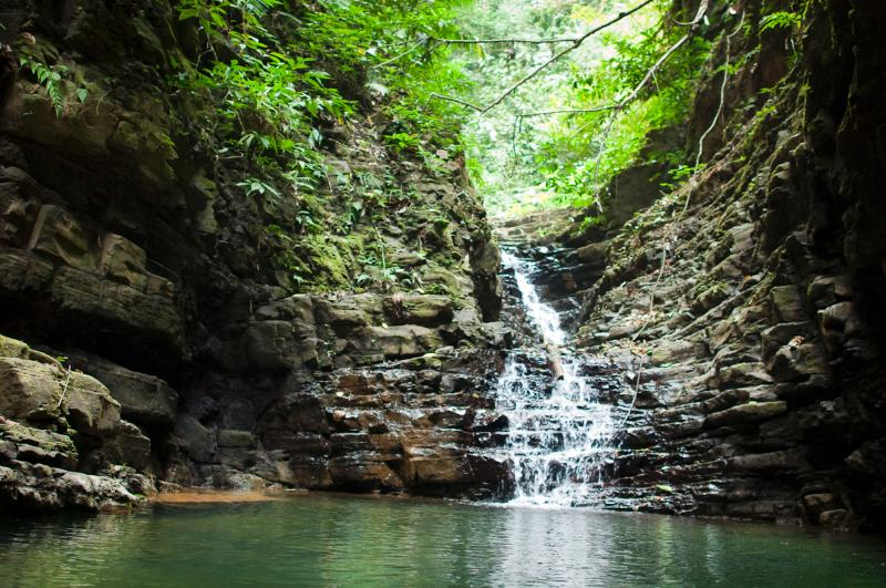 Fun trek along 1 of the nature trails brings you to freshwater plunge pool and waterfall for swim