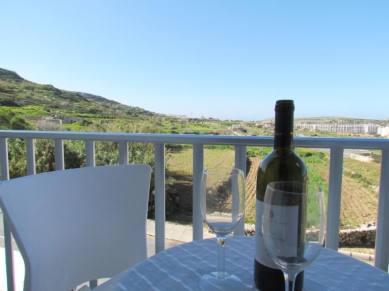 Balcony overlooking the Mellieha valley