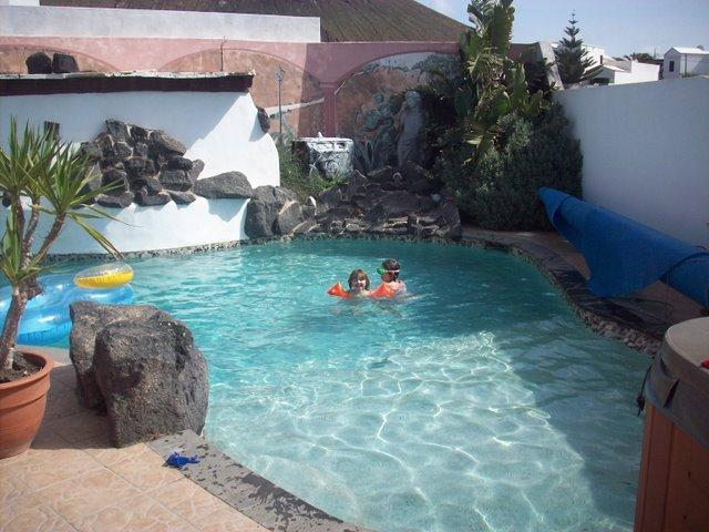 Kids Shallow end of pool
