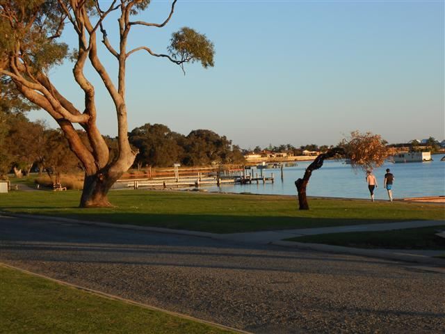 View of estuary from end of street - approximately 50m from townhouse