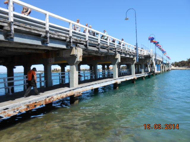 Old Mandurah Bridge - easy 200 metres walk along the foreshore from the townhouse - taken March 2014