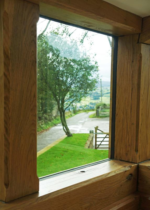 Stunning views from the kitchen down the valley.