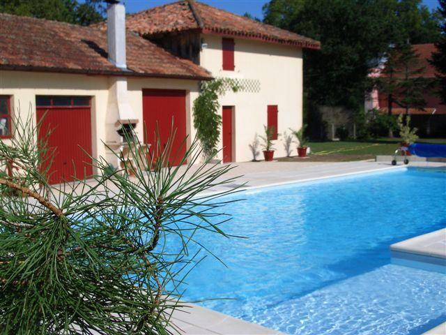 Pool and outbuildings