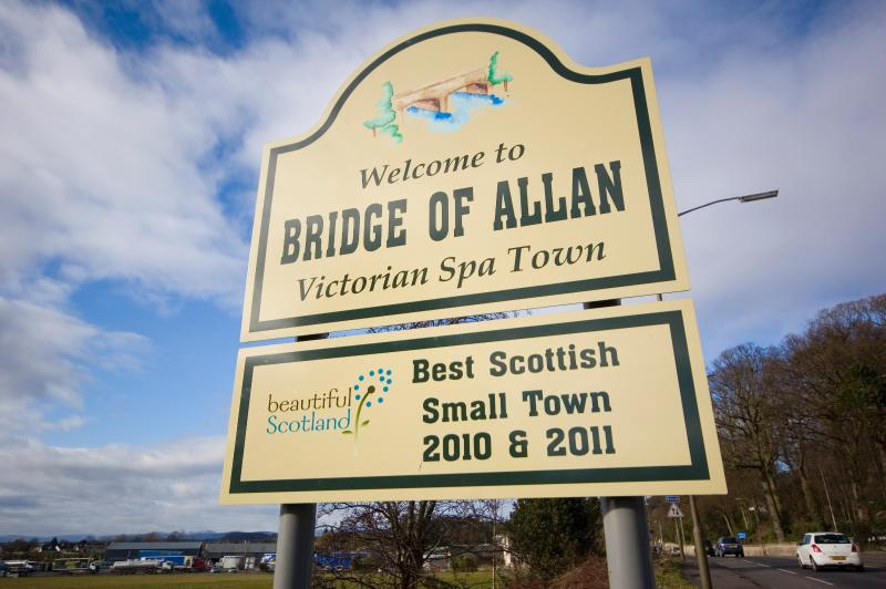 Bridge of Allan, awarded Best Small Town in Scotland 2010,2011 and runner up 2012