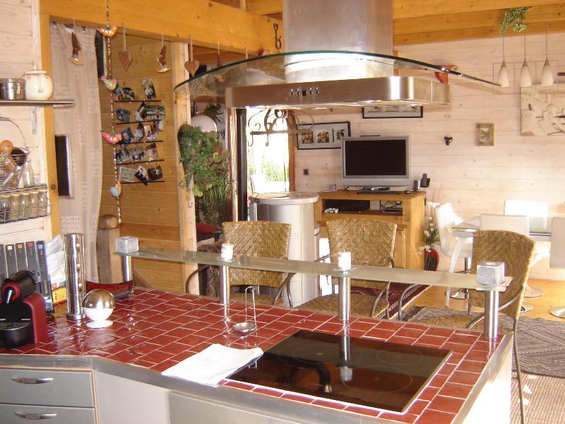Uitzicht vanaf keuken - open plan