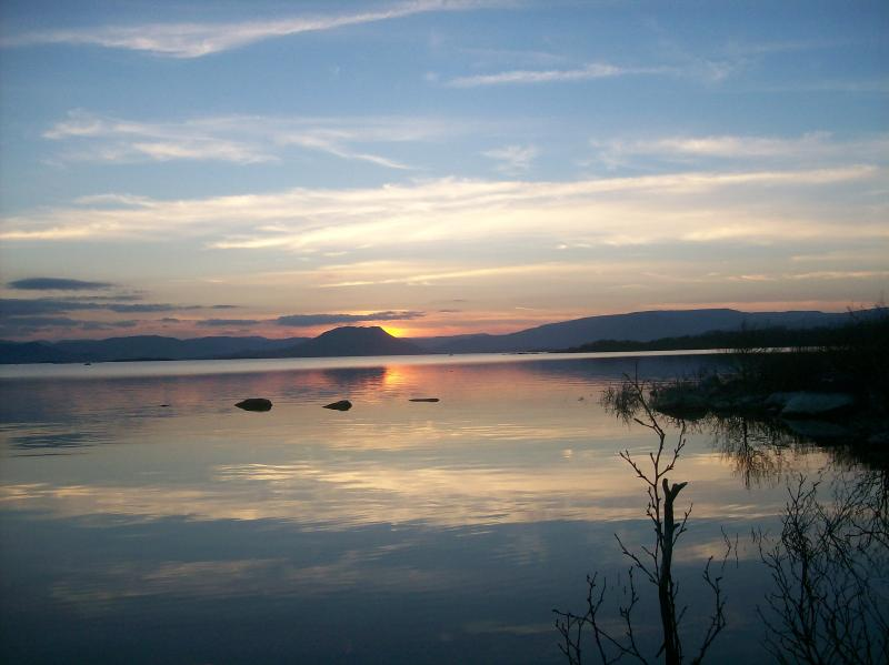 At the end of the day Enjoy the wonderfull sunset over Lough Mask from the front of your house