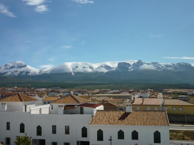 Far reaching view from the apartment towards the Sierra Arana mountains