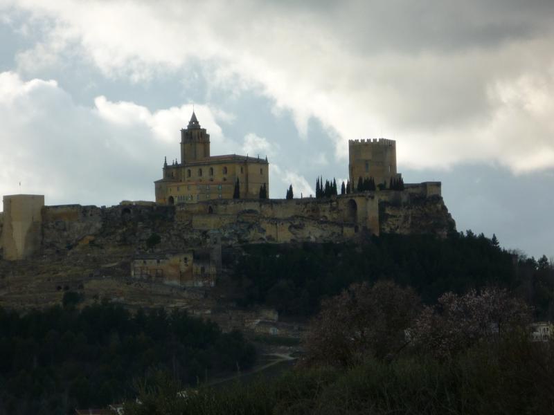 Historic Alcala la Real's  impressive moorish fort commanding magnificent far reaching views