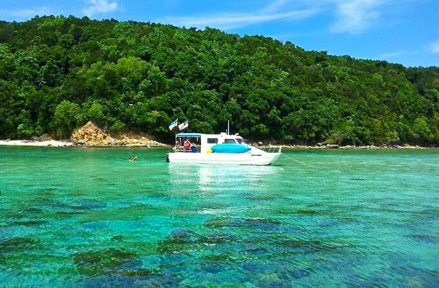 Charter this boat to snorkel in crystal clear waters