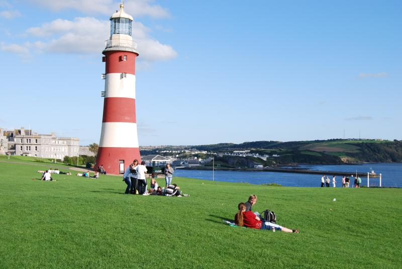 Plymouth Hoe just minutes from the apartment
